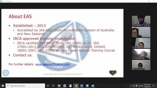 IRCA ISO  Lead Auditor Virtual Online Training